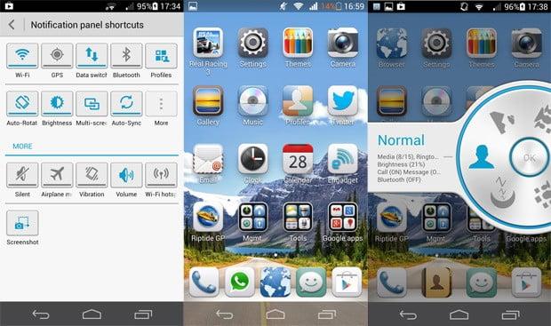 ascendp6softwarescreenie صفحه اصلی موبایل 2
